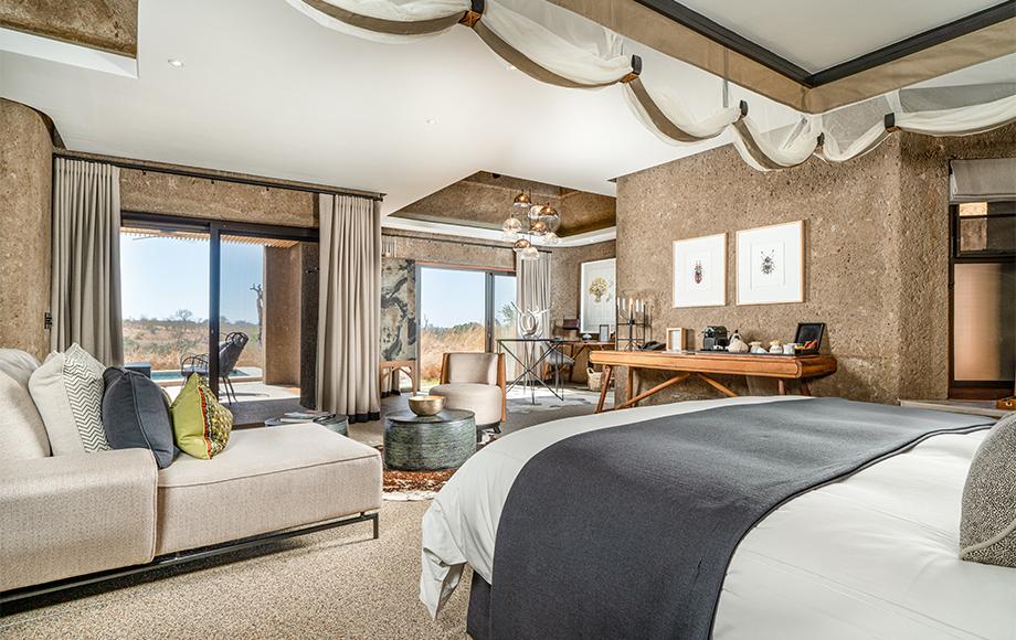 Sabi Sabi Earth Lodge Room in South Africa