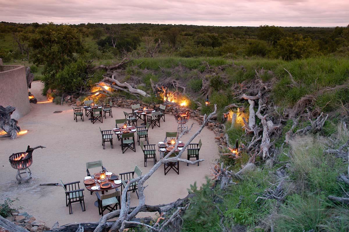 Sabi Sabi Earth Lodge Boma in South Africa
