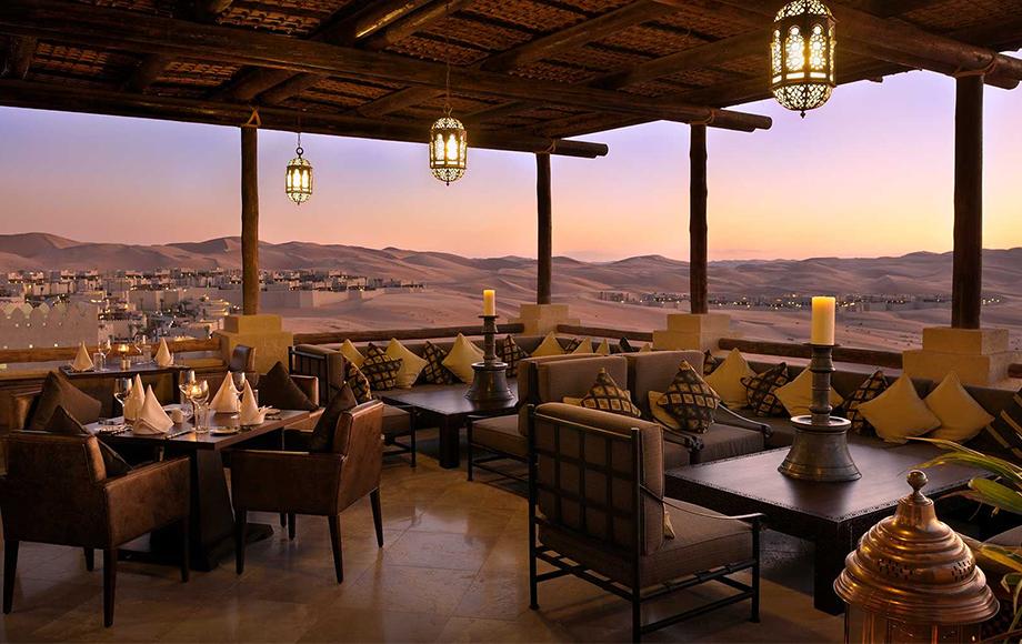 Dining Room of the Qasr Al Sarab Resort in the United Arab Emirates