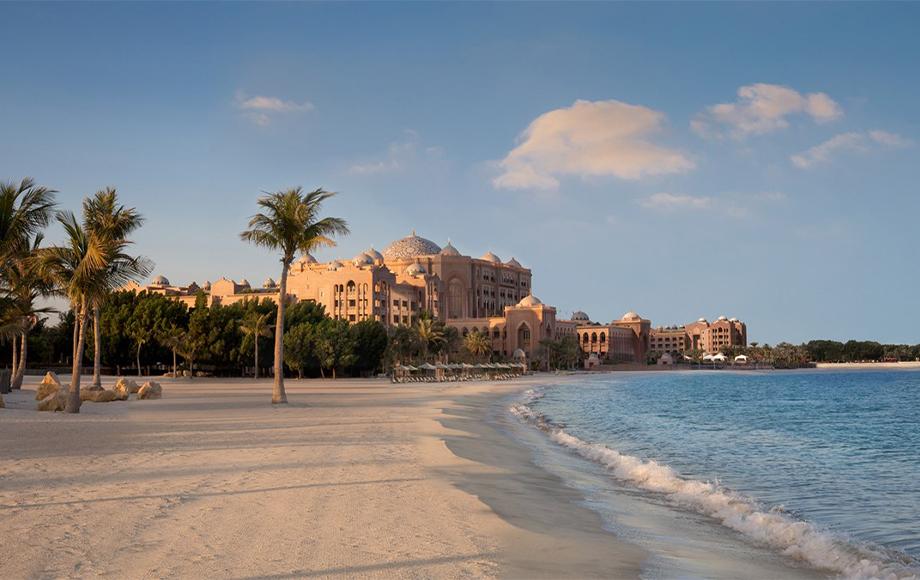 Emirates Palace Kempinski beach front