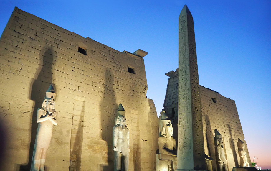 Luxor at night