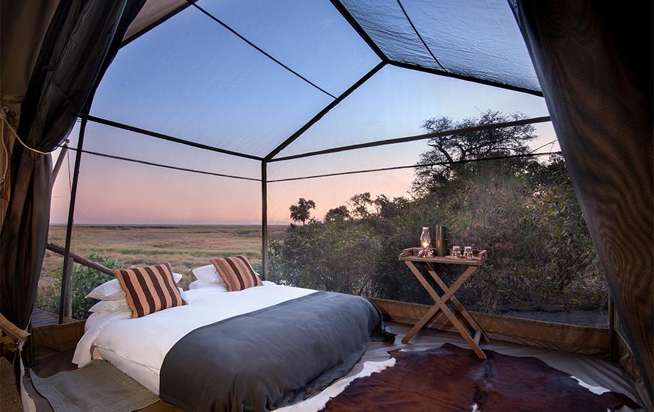 Luxury Linyanti Expeditions Bedroom in Botswana's Linyanti Region