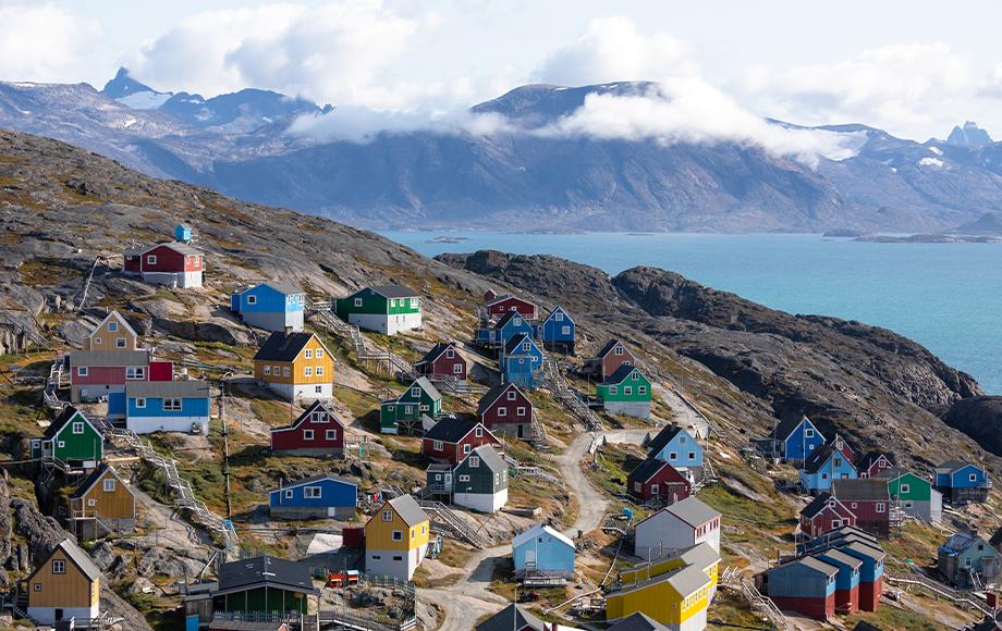 Kangaamiut Town in Greenland