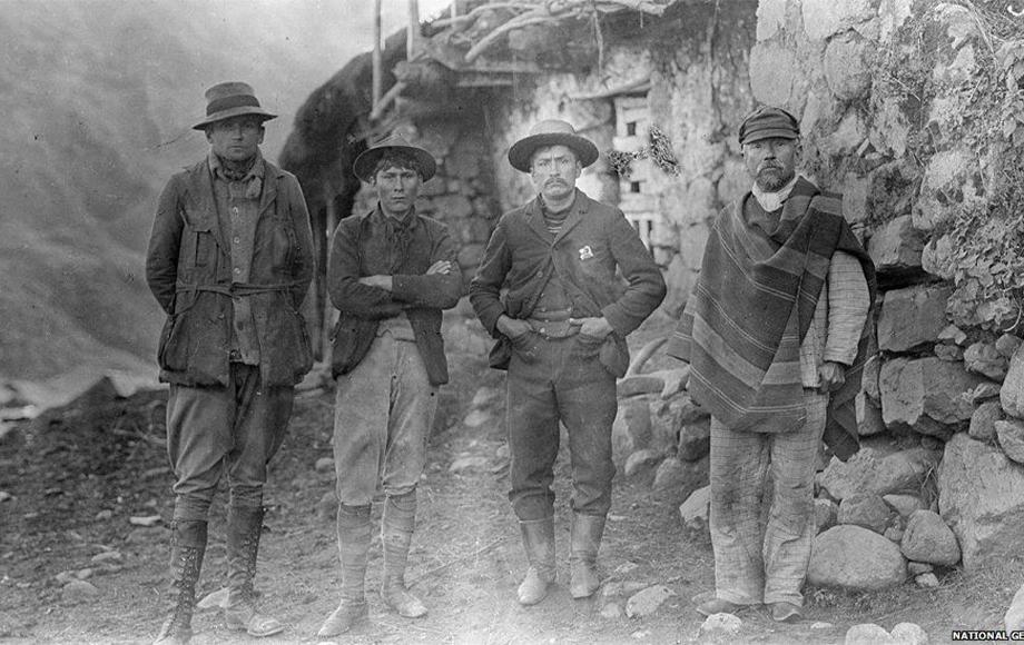 Hiram-Bingham with guides at Machu Picchu