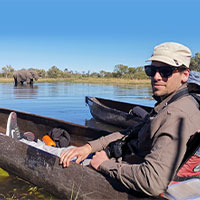 James in Mocoro in Botswana