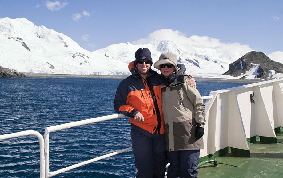 Steve and Sara in Antarctica