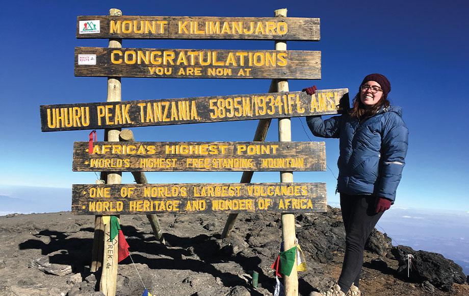 Georgia a top Mount Kilimanjaro