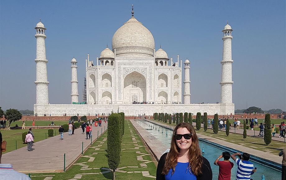 Jess at the Taj Mahal