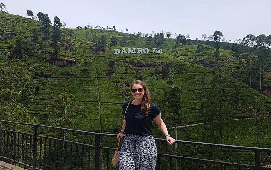Jess at the Tea Fields in Sri Lanka