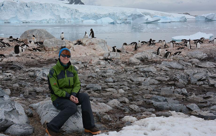 Kate in Antarctica