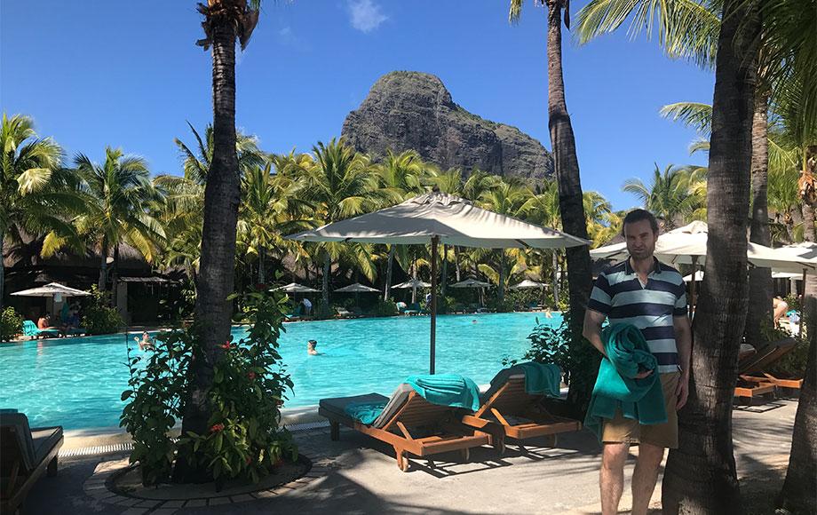 Michael in Mauritius