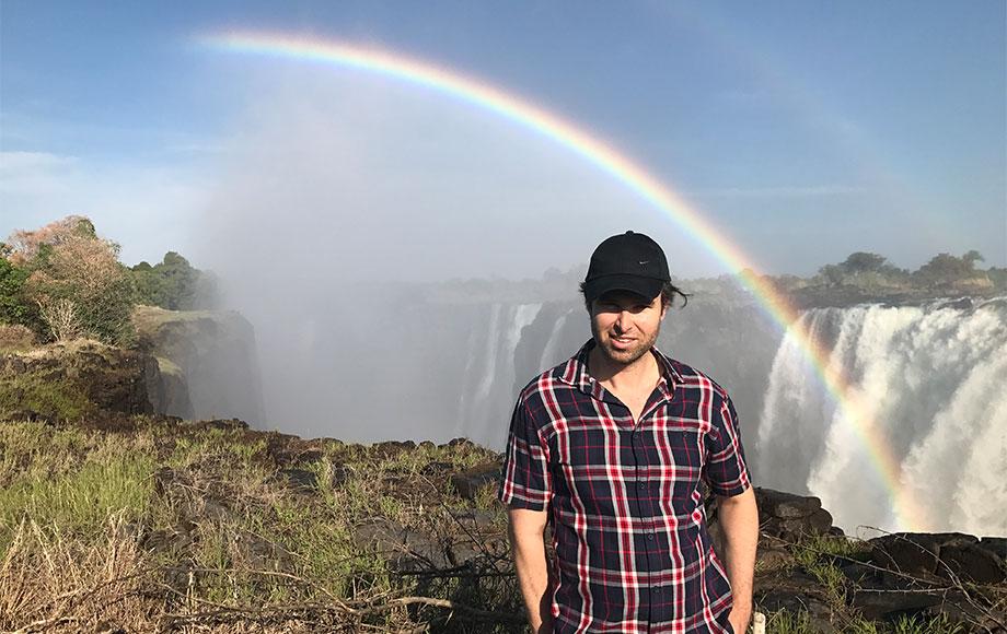 Michael at Victoria Falls