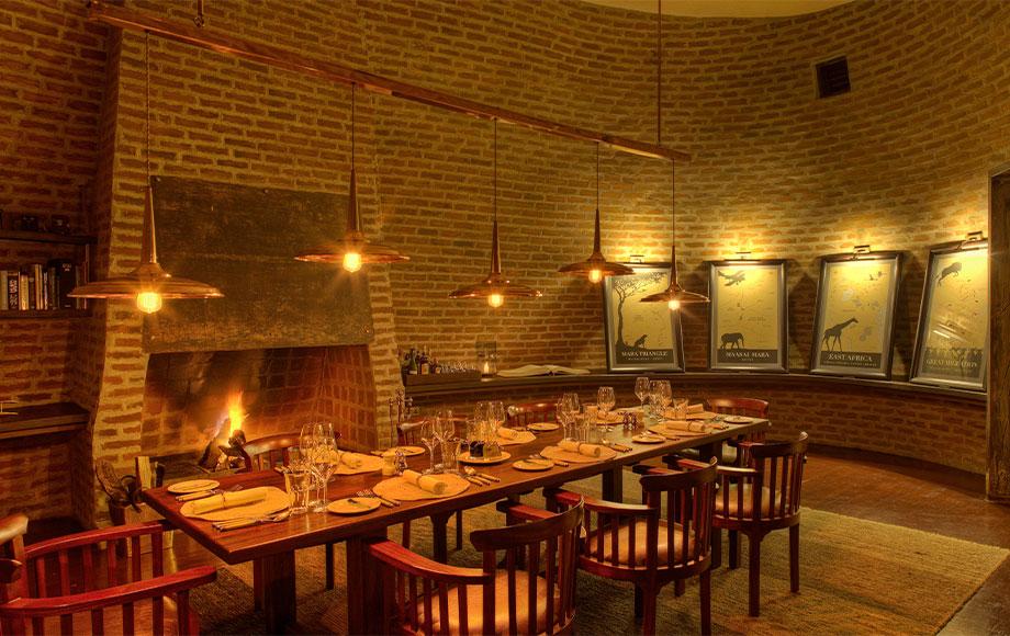 Angama Mara Private dining room