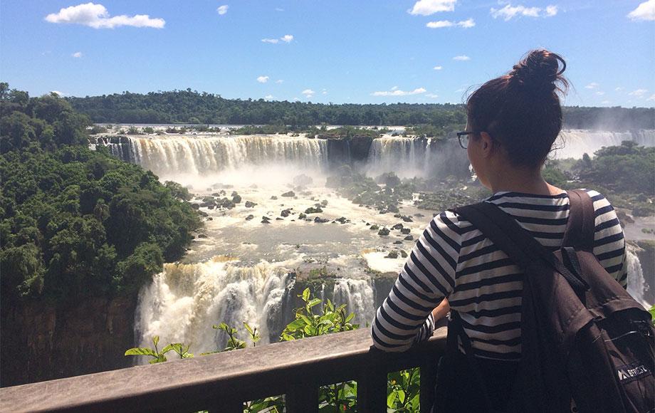 Georgia at Iguazu Falls