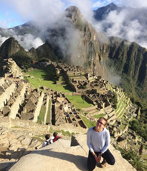 Georgia at Machu Picchu