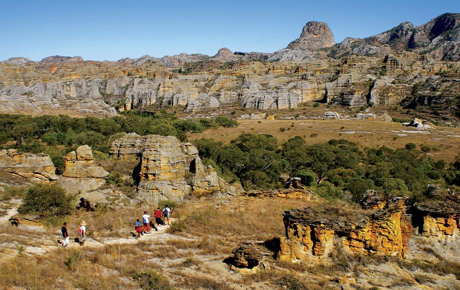 Hiking through Parc Islao in Madagascar