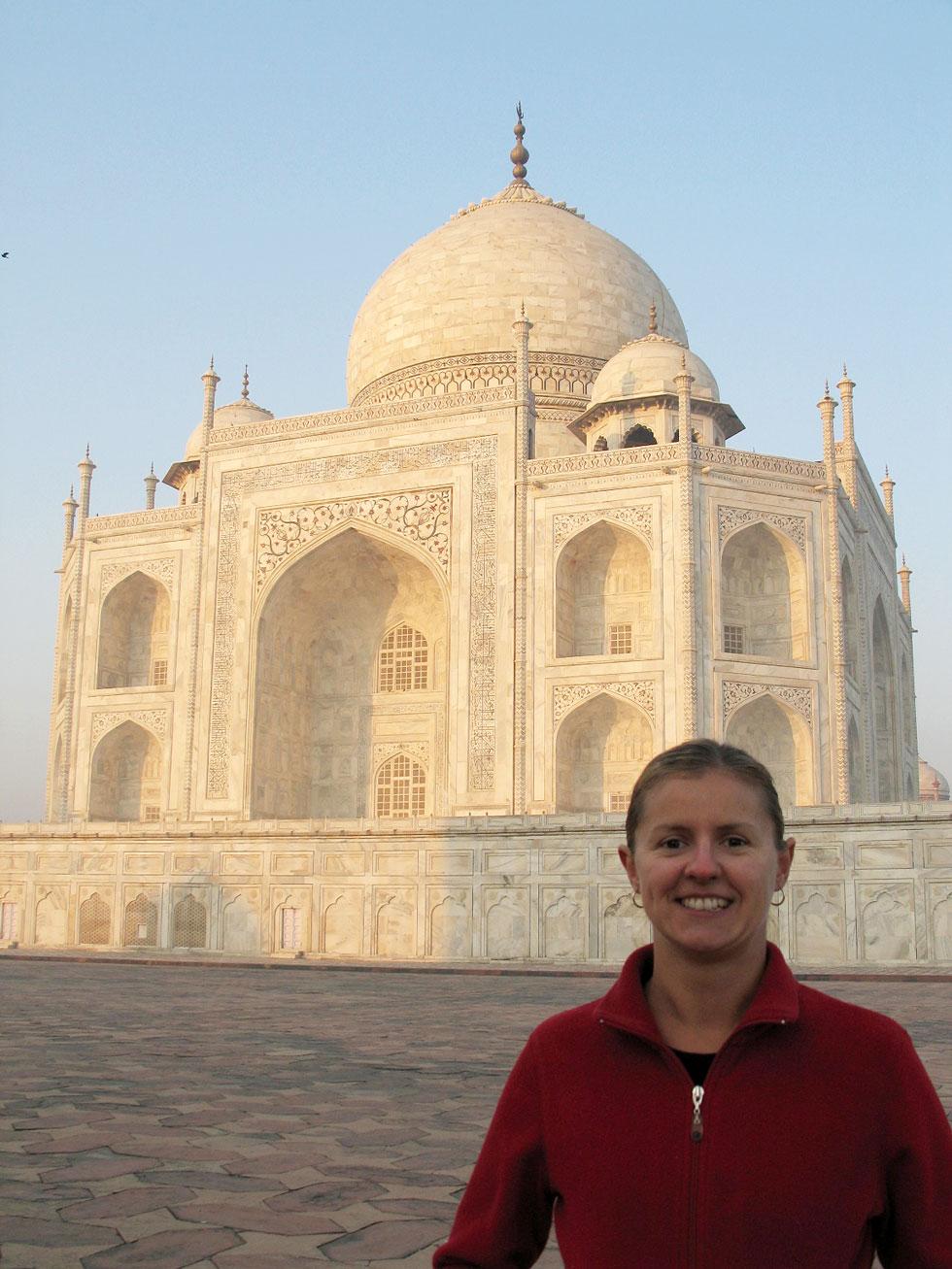 Carolyn at the Taj Mahal