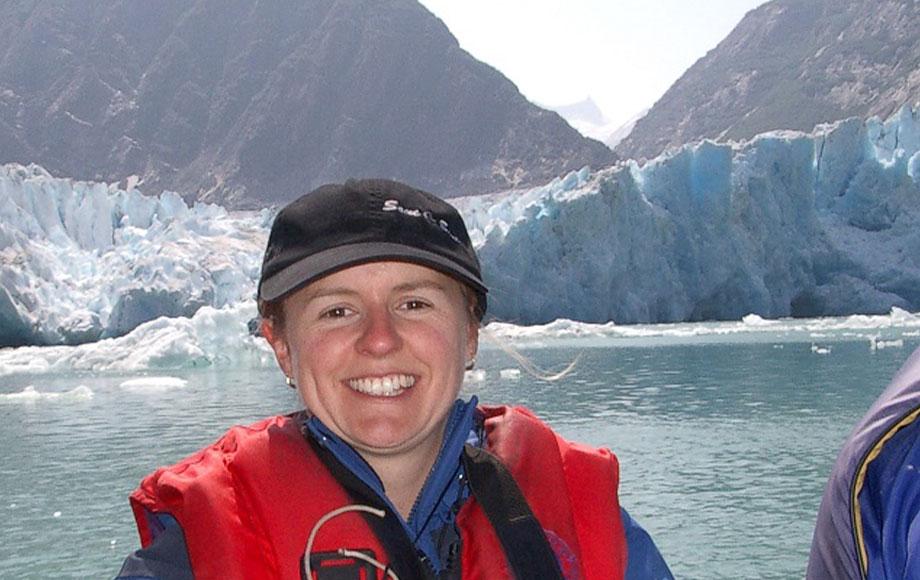 Carolyn in Alaska on a cruise