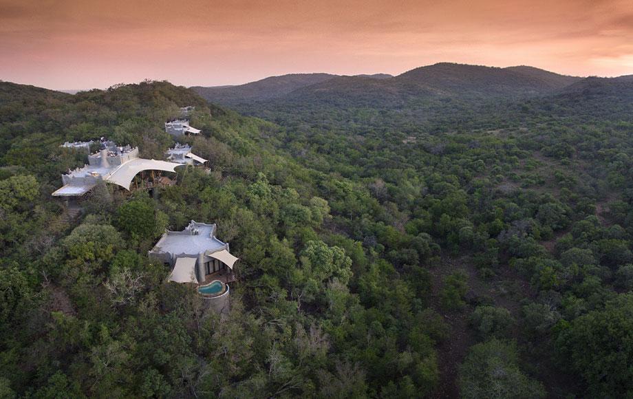 Phinda Rock Lodge Aerial Shot
