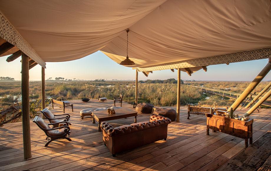 Lounge Area at Selinda Camp in Botswana