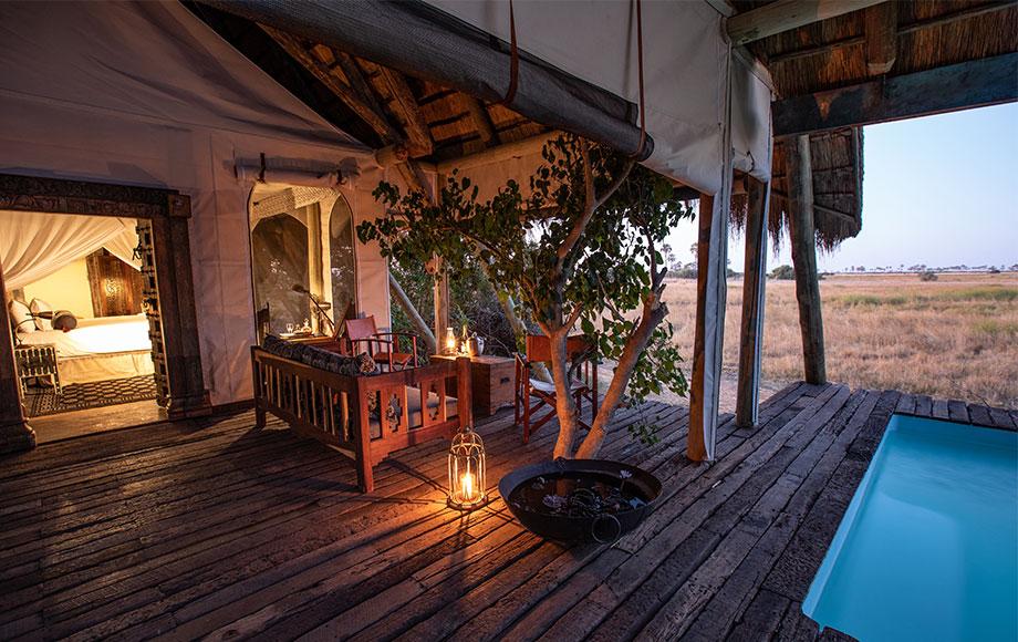 Private pool at Selinda Camp in Botswana