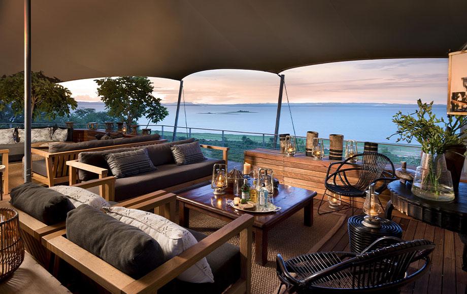 Living Room at Bumi Hills Safari Lodge at Lake Kariba