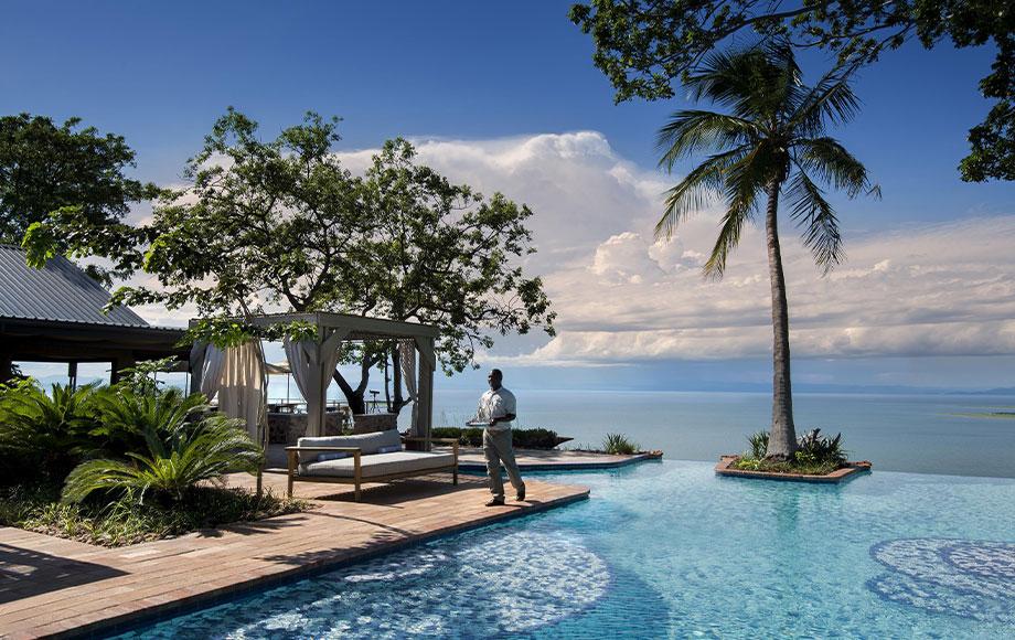 Infinity Pool at Bumi Hills Safari Lodge at Lake Kariba