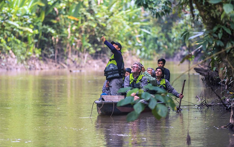 Cruising down the Amazon River