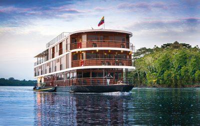 The M/V Anakonda cruising down the Amazon River