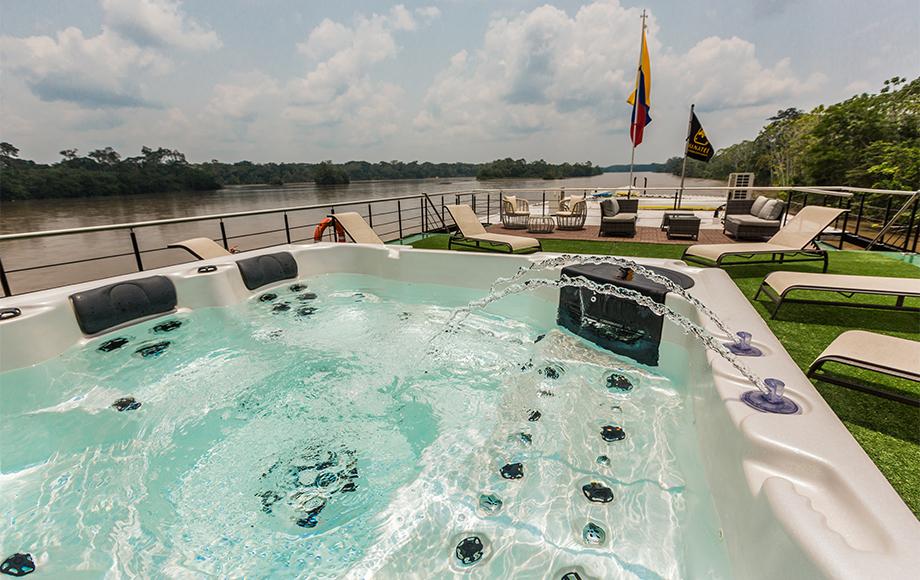 The M/V Manatee Deck Spa