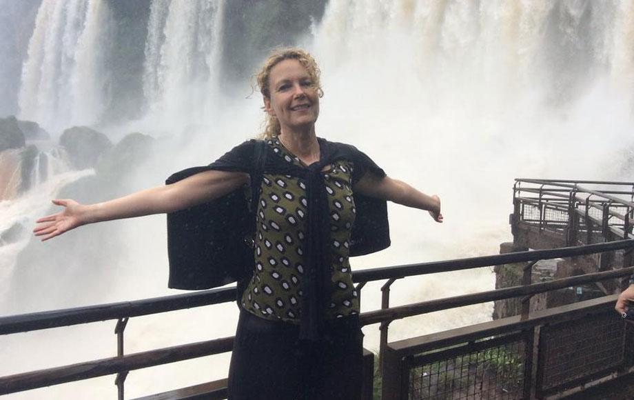 Anna at Iguazu Falls