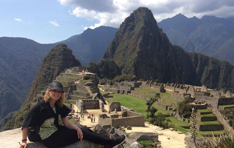 Anna at Machu Picchu