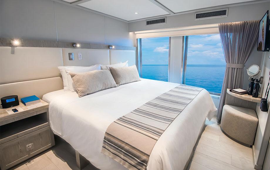 Luxury Bedroom aboard the Origin