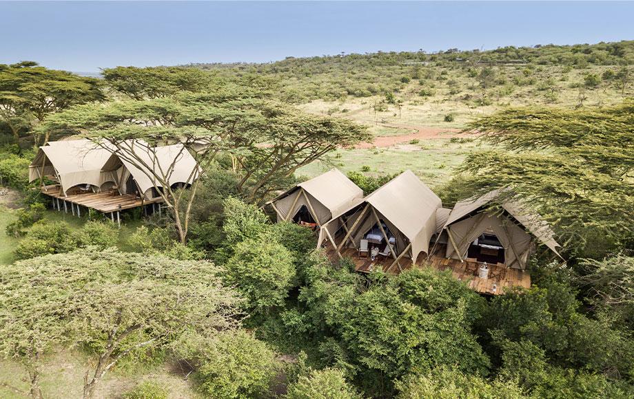 Mara Nyika Camp Aerial View