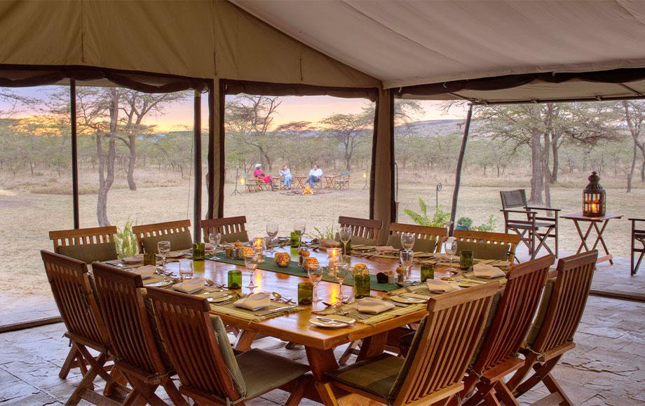 kicheche Bush Camp Dining Room
