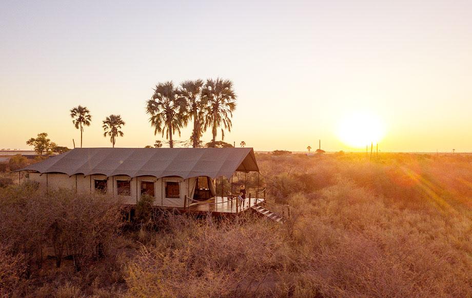Camp Kalahari at sunset