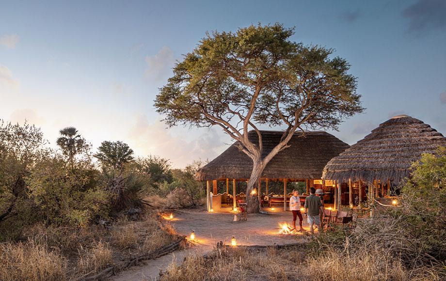 Camp Kalahari main area at night