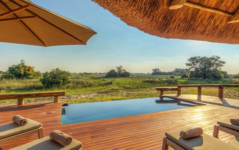 Outdoor pool at Camp Okavango
