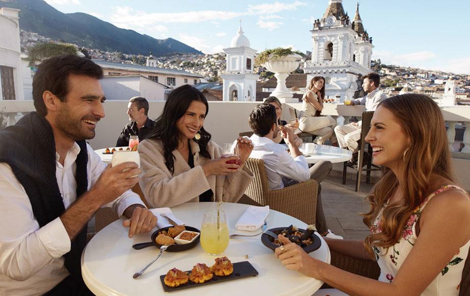 Casa Gangotena Breakfast terrace