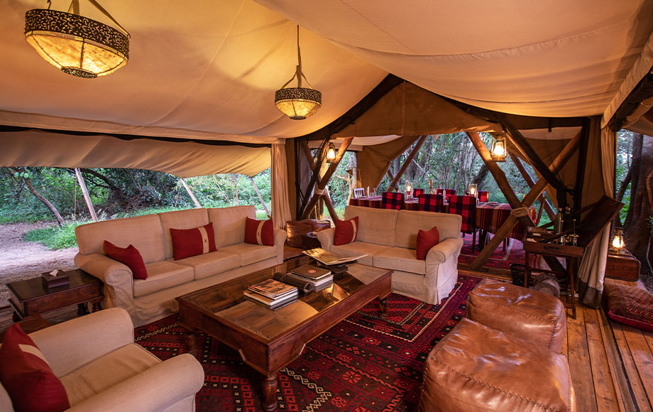 Mara Expeditions Camp Lounge Room