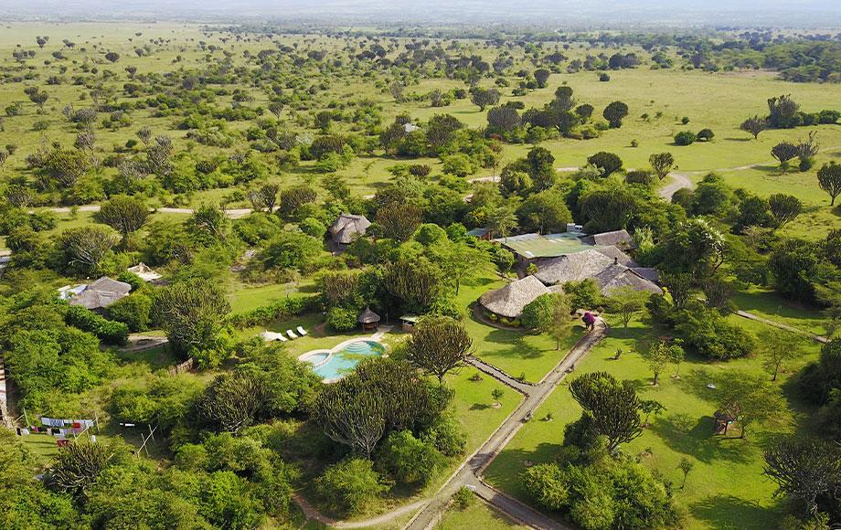 Mbweha Camp Aerial