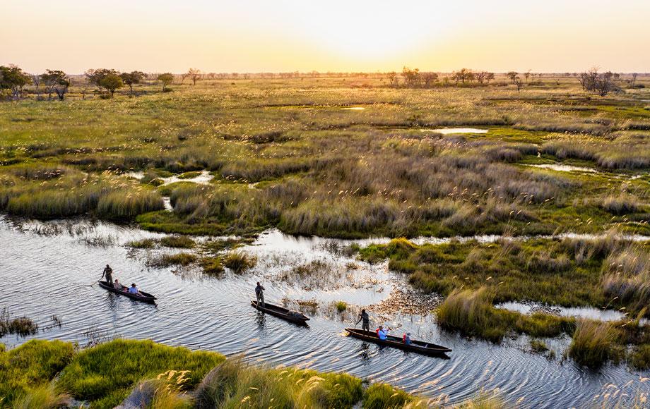 Mokoroing trhough the Okavango Delta