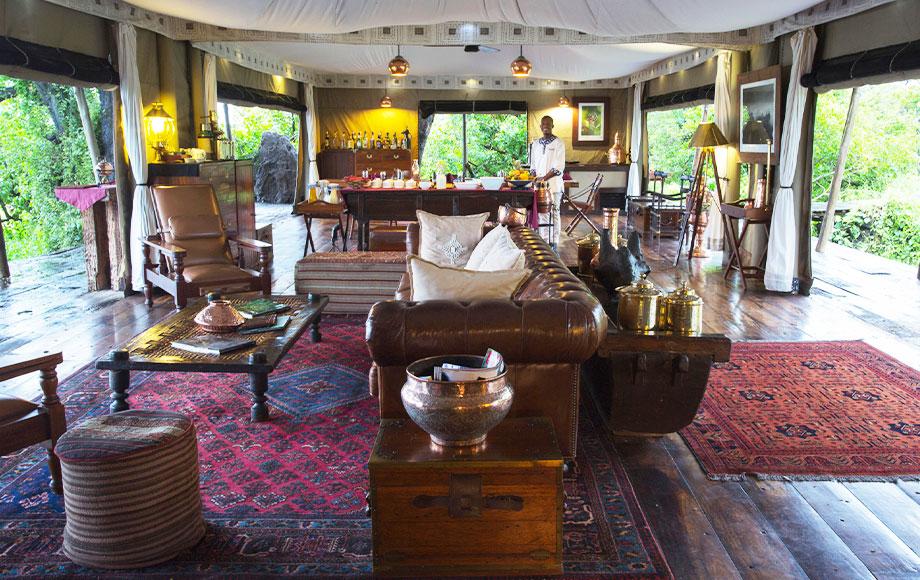 Zarafa Camp Lounge Room