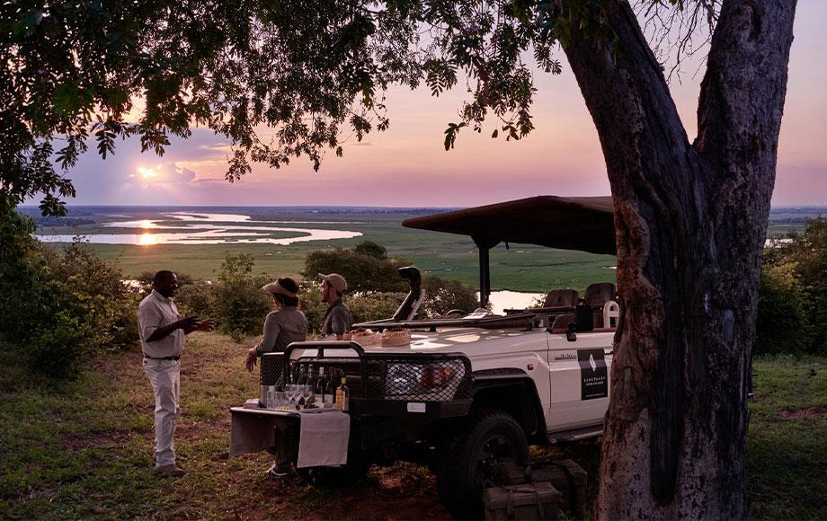 Sundowners at Chobe Chilwero