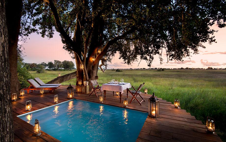 Duba Plains Guest Tent Private Dining