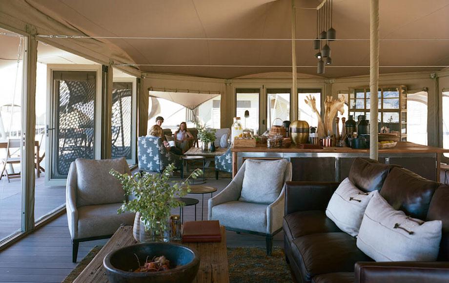 Hoanib Valley Camp Lounge Area