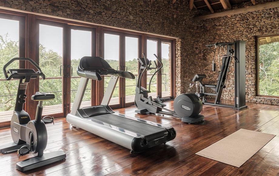 Gym at Mwiba Lodge