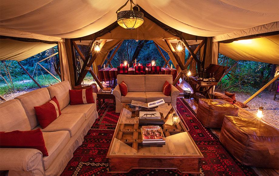 Mara Toto Camp Main Lounge area