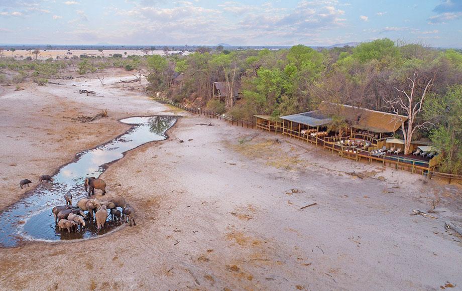 Aerial shot of Safari Lodge