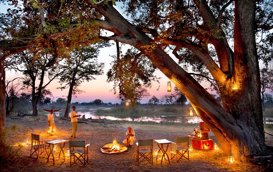 Selinda Explorers Camp Dining outdoors